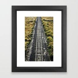 Palouse Tracks Framed Art Print