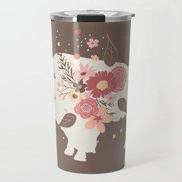 Floral Buffalo Travel Mug