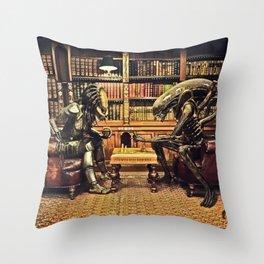 Alien V Predator Throw Pillow