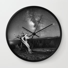 Under Starry Sky At Night Wall Clock