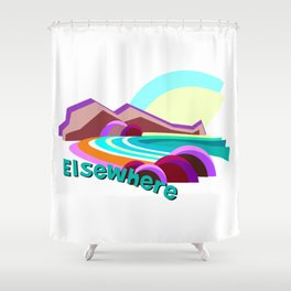 Elsewhere Island Shower Curtain