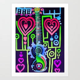 Fusion Keyblade Guitar #184 - Dual Disk & Overdrive Art Print