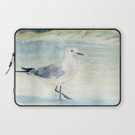 Seagull on the beach Laptop Sleeve