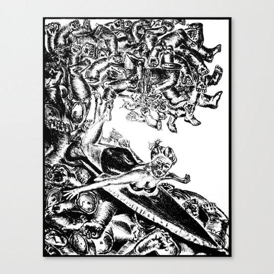 Surfing on Childhood Canvas Print