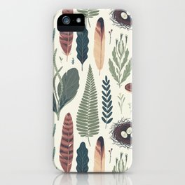 Forest Fall Pattern iPhone Case