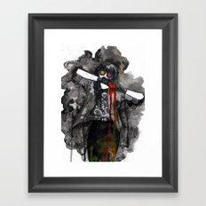 Inked Heart Framed Art Print