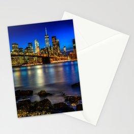 Manhattan Skyline and Brooklyn Bridge Stationery Cards