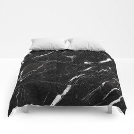Dark marble Comforters