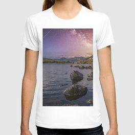 Llynnau Mymbyr with Milky Way T-shirt