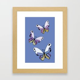 Vibrant Butterflies_Blue Framed Art Print