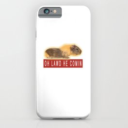 Funny Chonk Guinea Pig Meme iPhone Case