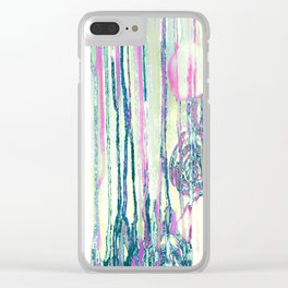 Dripping Daisies Clear iPhone Case
