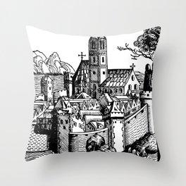 Schedelsche Weltchronik - Steyr Throw Pillow