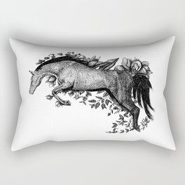 Horse - Go Vegan Rectangular Pillow