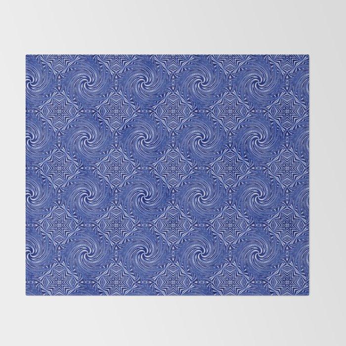 Muster - blauer Sturm Throw Blanket