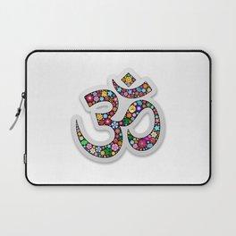 Namaste Floral Yoga Symbol Laptop Sleeve