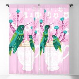 Hummingbirds on Teacup Blackout Curtain