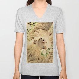 Vintage Animals - Sloth Unisex V-Neck
