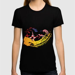 Usa American Flag Horse Racing Riding T-shirt