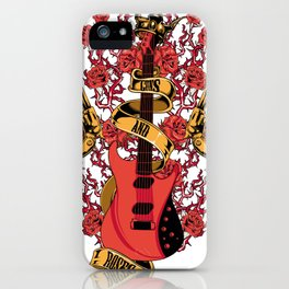 Guns and roses iPhone Case