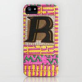 Alpha-Numero: R iPhone Case