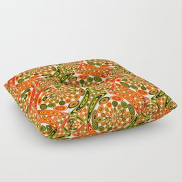 Colorful geometric abstract Floor Pillow