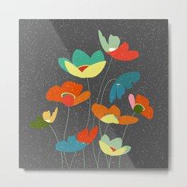 Modena floral multi color Metal Print