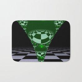 Apollonian gasket - green Bath Mat
