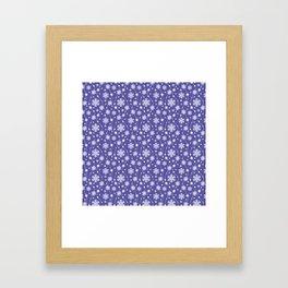 Purple Holiday Snowflake Pattern Framed Art Print
