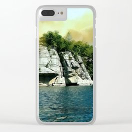 Golden Sky Over the Mountain - Mohonk Clear iPhone Case