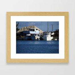 Bahama Boatyard! Framed Art Print