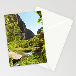 The Virgin River in Zion Stationery Cards