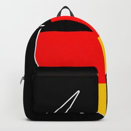 German Heart Germany Deutschland Horns product Flag Gift design Backpack