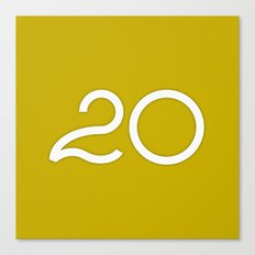 365 Days of Type - 20 Canvas Print