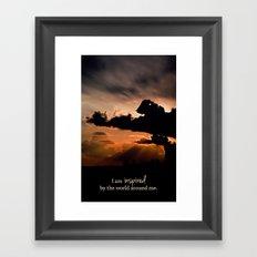 inspired by the world II Framed Art Print