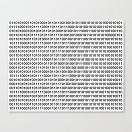 Binary Code Canvas Print