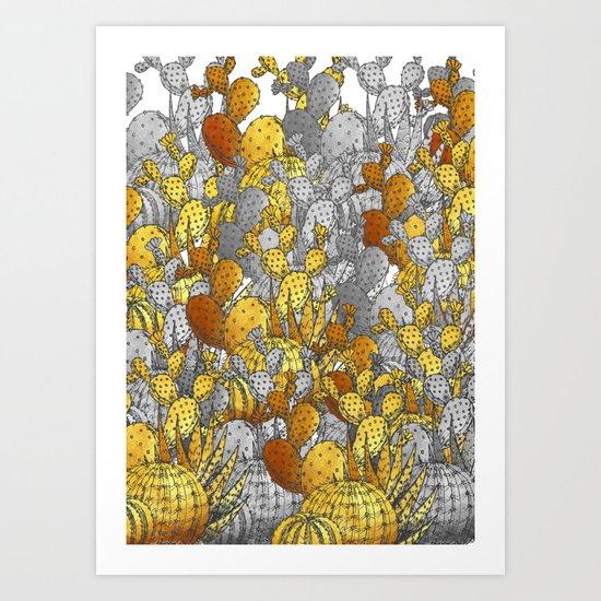Metallic Desert Art Print