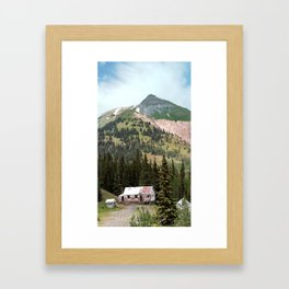 Country Schoolhouse at the Gold Rush Idarado Mine Framed Art Print
