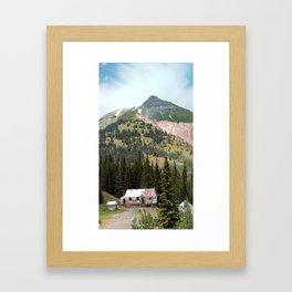Country Schoolhouse at the Gold Rush Idarado Mine Framed Art Print