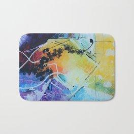 Harmony colourful  abstract artwork Bath Mat