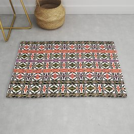 Ethnic striped pattern. Rug