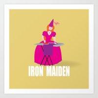 iron maiden Art Prints featuring IRON MAIDEN by mangulica illustrations