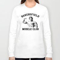 muscle Long Sleeve T-shirts featuring Muscle club by big tony