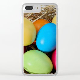 Easter Egg Clear iPhone Case
