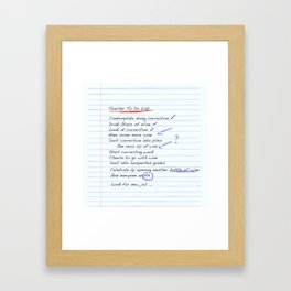 Teacher To Do List Framed Art Print