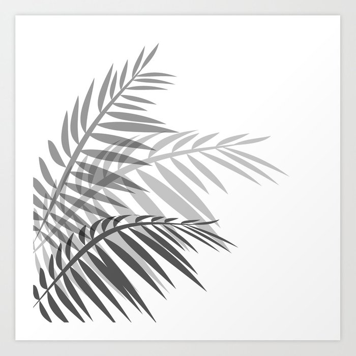 Leaves Of Palm Tree Leaves Art Print By Decoli Society6