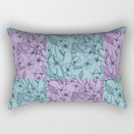 Floral Modern Quilt Pattern Art Print  Rectangular Pillow