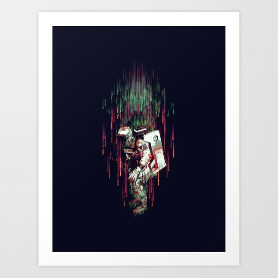 Falling from the Space Art Print