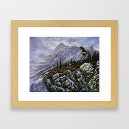 Redtail Hunter Framed Art Print