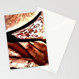 """Finding The Button"" - An Erotic Semi-Nude Depiction of a Woman Looking For Satisfaction. Stationery Cards"